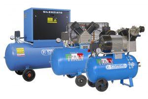 Compressori a pistoni per vetrerie