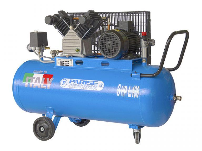 Air compressors on tank